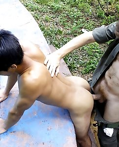 Bent over twink cornholed by an old cop