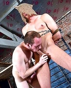 Billy Rock gets hard bondage fuck by Sean Taylor
